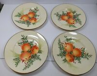 Set of 4 Lennox Williamsburg Boxwood and Pine Luncheon Accent Plate with Oranges