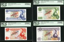 Mauritius 1978 Set of 4 SPECIMEN 5, 10, 25, 50 Rupees SUPERB GEM UNC PCGS 67 PPQ