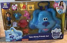 TAKE-ALONG FRIENDS SET Blue's Clues & You Figures Carry Case Shovel Pail Josh