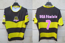Maillot rugby ALBI féminine porté n°7 Jicega worn shirt moulant made France XL