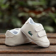 Baby Boy Girl White Sneakers Crib Shoes Infant Sneakers Size Newborn to 18 Month