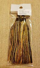"Multicolor Yellow Tigereye 4"" Nylon Tassels - 2 per bag"