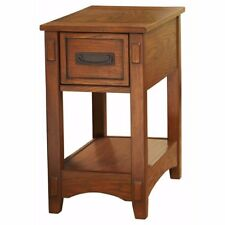 Brown Accent End Table Living Room Chair Side Sofa Wood Furniture Storage Drawer