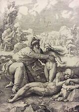 Lucas de Leyde 1529  La création d' Eve procédé Amand Durand XIX ème Leyden