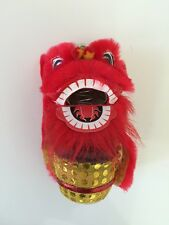 BOUNCING CHINESE NEW YEAR LION DRAGON HEAD DANCE DECORATION RED