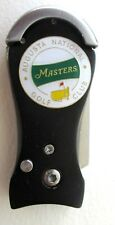 2018 MASTERS, WHITE, GOLF CLUB BALL MARKER with a BLACK DIVOT TOOL