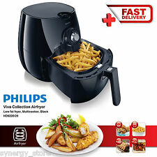 Philips AIR FRYER Food AIRFRYER Healthier Cooking Oil-Free Chips Deep Black NEW