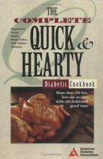 """THE QUICK & HEARTY DIABETIC COOKBOOK"". AMERICAN DIABETIC ASSOC."