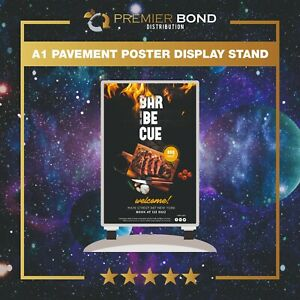 A1 Pavement Poster Display Stand with Heavy Duty Water Base (with wheels)