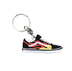 Vans Old Skool Flame Fire Trainer Keychain Keyring Sneakers Old School Red Black