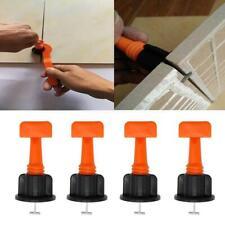 10/50Pcs Orange Reusable Tile Leveling Positioning System Leveler T-lock Floor