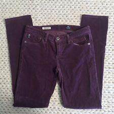 AG Adriano Goldschmied Purple Stevie Corduroy Skinny Jeans Womens Size 28