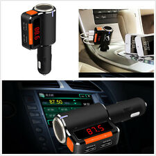 Wireless Bluetooth Car FM Transmitter Modulator Kit MP3 Audio Player USB Charger