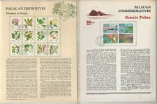 Palau Set Panel Collection, 7 Pages, Ship, Bird, Butterfly, Bat, Flower (C)