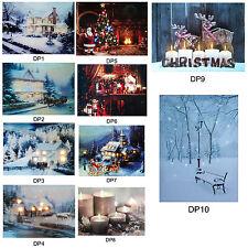 Festive Christmas 40cm x 30cm LED Light up Canvas Picture - Choose Design
