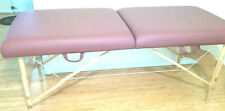 "Custom Craftworks Omni 30"" Portable Massage Table Raspberry & Accessories"