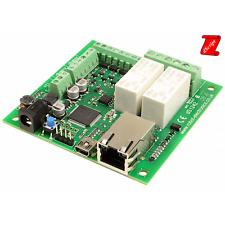 Scheda Ethernet 2 relè 16 A, 4 I/O digitali e 2 ingressi analogici - DS1242