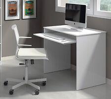 Milan Laptop White Gloss Desk Small Size