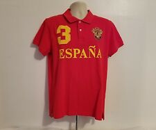 Robin Ruth Womens Red XL Polo Rugby Espana Embroidered Shirt