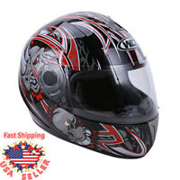 DOT Flip up Visor Full Face Motorcycle Sport Bike Racing Bike Cafe Racer Helmet