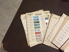 CHRYSLER,DODGE,PLYMOUTH,DESOTO VINTAGE RARE PARTS PAINT CHIP SET 1954-1969 NICE!
