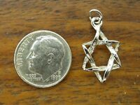 Vintage sterling silver STAR OF DAVID JEWISH HEBREW charm