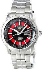 Seiko 5 Sports 100M Automatic Men's Watch Black with Red Dial