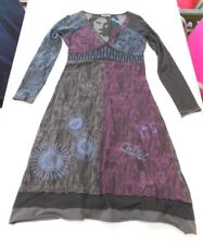 Robe manches longues baba cool  multicolore broderies LOVE 101 idées  S  TBE