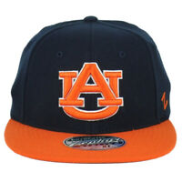 NCAA Zephyr Auburn Tigers Fitted X-Large Two Tone Stretch Flat Bill Hat Cap