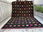 Moroccan Vintage Handmade Azilal Rug Beni Ourain Berber Tribal Rug