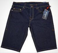 NWT $149 True Religion Denim Shorts Mens 31 36 Dark Blue Ricky Relaxed Straight