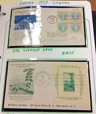 {BJ STAMPS} 1937 US FDC collection of 9 different cachets, nice covers