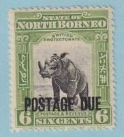 NORTH BORNEO J36  MINT HINGED  OG *  NO FAULTS EXTRA FINE !