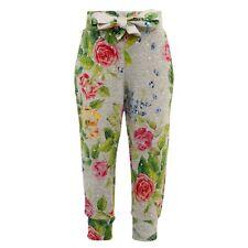 MONNALISA Bebe broek grijs bloemenprint, mt.3 jaar 98, NIEUW!!!
