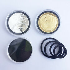 20X Badge Commemorate Coin Case Capsules Holder Storage Display 18-39mm BLACK