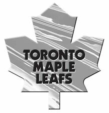 Toronto Maple Leafs Silver Auto Emblem [NEW] Car Truck NHL Hockey Sticker Decal