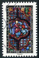 TIMBRE FRANCE  AUTOADHESIF OBLITERE N° 1349 / VITRAUX / PARIS