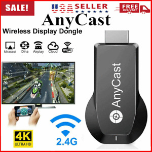4K AnyCast 1080P HDMI Wireless Adapter WiFi Display Screen Mirroring Receiver
