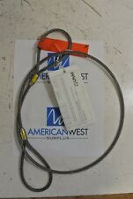 """LIFT-ALL 14EEX4  Wire Rope Sling 1/4"""" x 4 feet 6x19  New"""