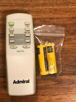 Factory Original ADMIRAL 814011422 Air Conditioner Remote with Fresh Batteries