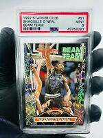 1992-93 SHAQUILLE O'NEAL Stadium Club Beam Team PSA 9 Mint #21 ROOKIE RC