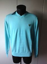 Pull Lyle & Scott (2168) Aqua Club V-neck Sweater Taille L Neuf !!!