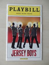 February 2008 - August Wilson Theatre Playbill w/Ticket - Jersey Boys - Arcelus
