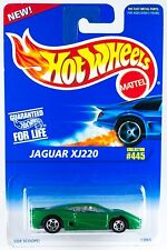 Hot Wheels No. 445 Jaguar XJ220 Green w/5SP's Blue Card 1996 New On Card