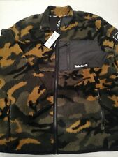 New Men's Timberland Camo Recycled Fleece Jacket - Green Camo A2AW9 MSRP $128