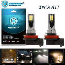 2PCS H11 H8 H9 LED Fog Light Conversion Kit Bulbs 6000K 100W 10002LM DRL Xenon