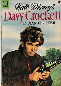DELL FOUR COLOR WALT DISNEY'S DAVY CROCKETT INDIAN FIGHTER #631 1955 GRADED VG