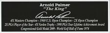 Arnold Palmer Autograph Nameplate Golf PGA  Helmet Jersey Ball Masters