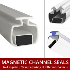 Magnetic Channel Shower Seal Bi-Fold Door | Sliding Quadrants Magnet | Pair 2M