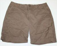 "Old Navy Womens Size 6 Favorite Khaki Stretch Brown ""Perfect Bermuda"" Shorts"